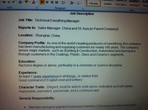 ideal job decriptions